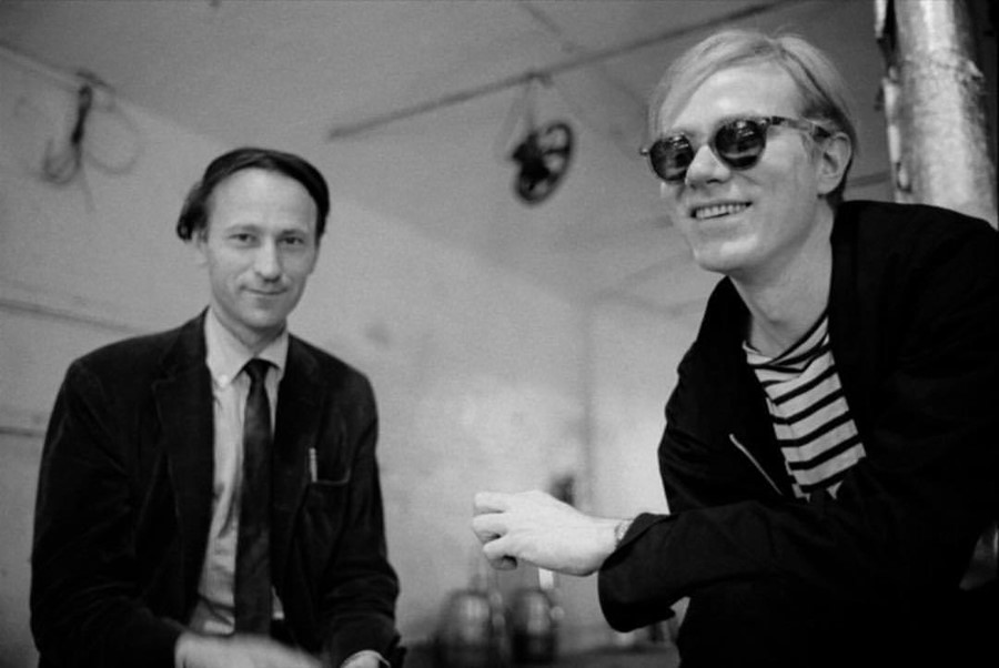 Jonas Mekas and Andy Warhol
