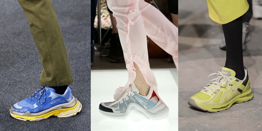 ugly sneakers balenciaga vetements louis vuitton triple s