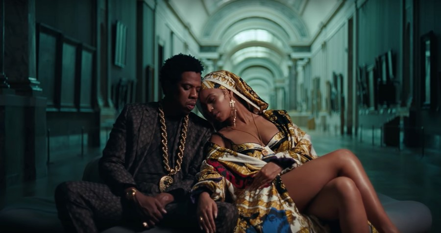 "Beyonce and Jay-Z in ""Apes**t"" music video"