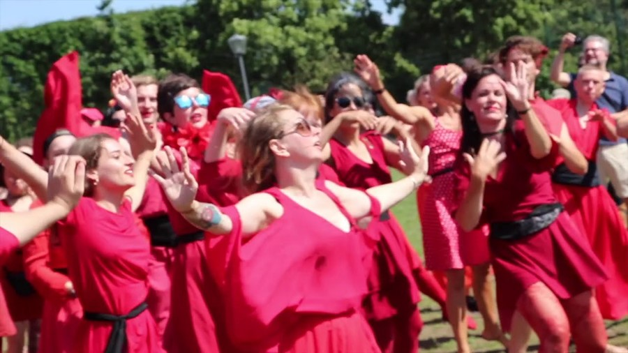 Watch hundreds of Kate Bush fans re-enact the 'Wuthering