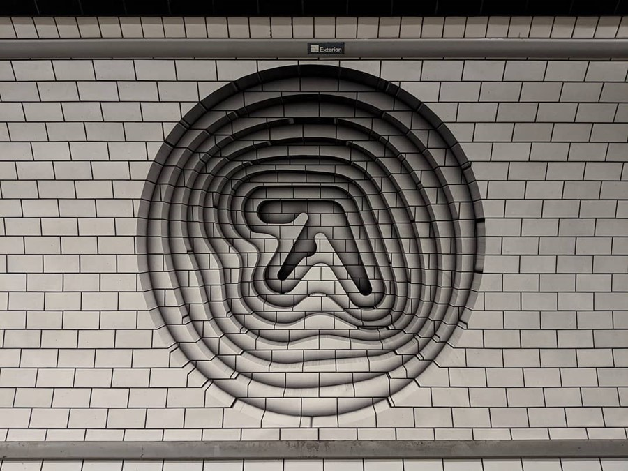 Aphex Twin tube adverts 2018