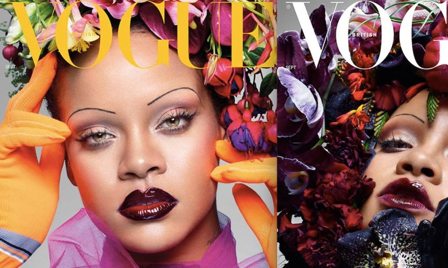 Rihanna on the cover of British Vogue