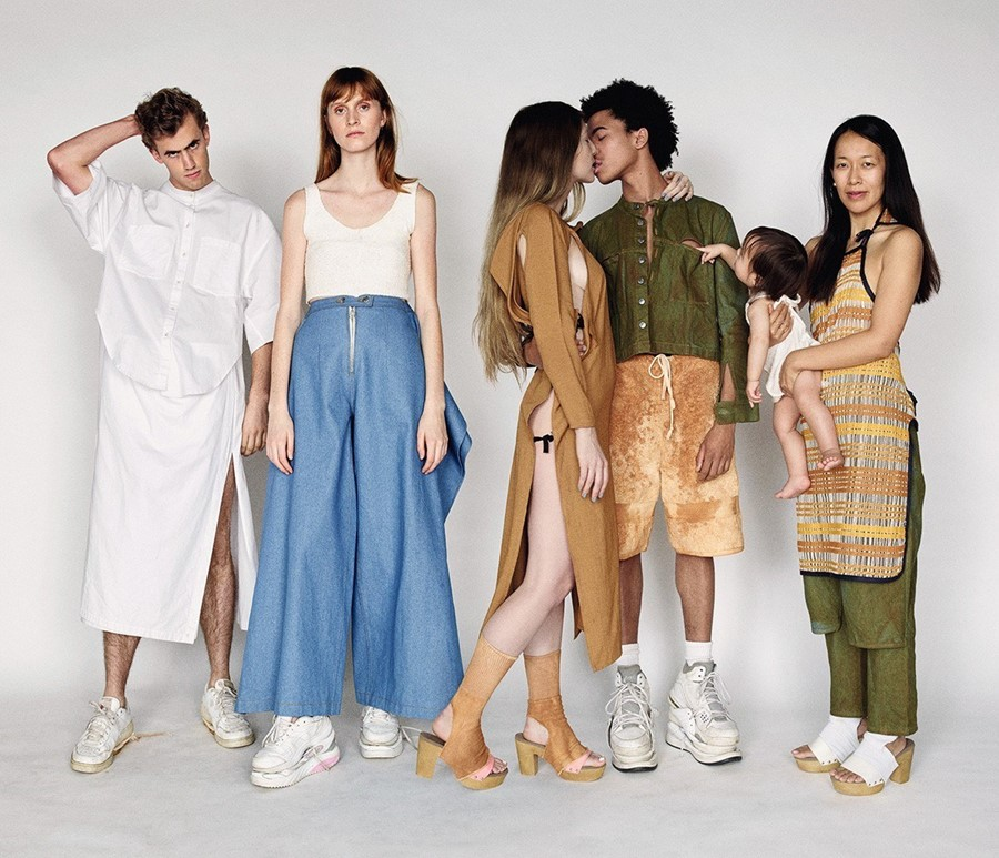 ECKHAUS LATTA Dazed Spring issue group shot