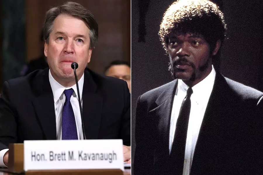 Brett Kavanaugh and Samuel L. Jackson in Pulp Fiction