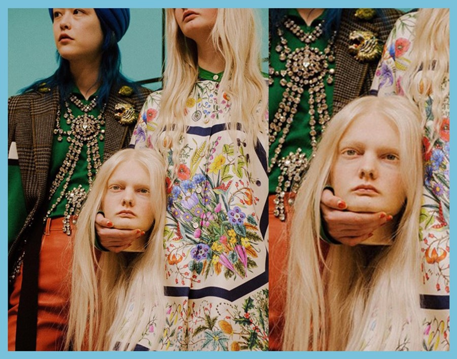Gucci severed head AW18 collection fashion future Prosthetic