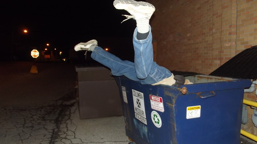 Image result for dumpster diving