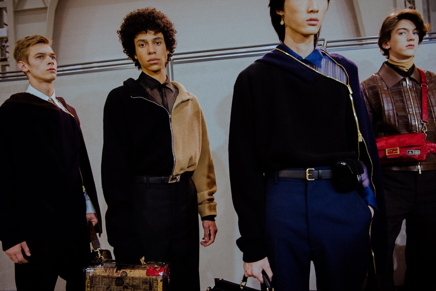 Fendi AW19 Menswear Dazed Backstage