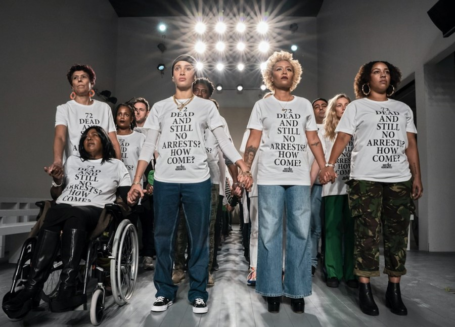 Justice 4 Grenfell at London Fashion Week