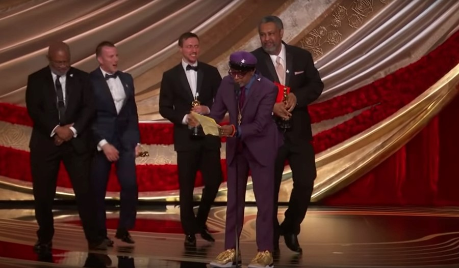 Spike Lee accepting best adapted screenplay, Oscars 2019