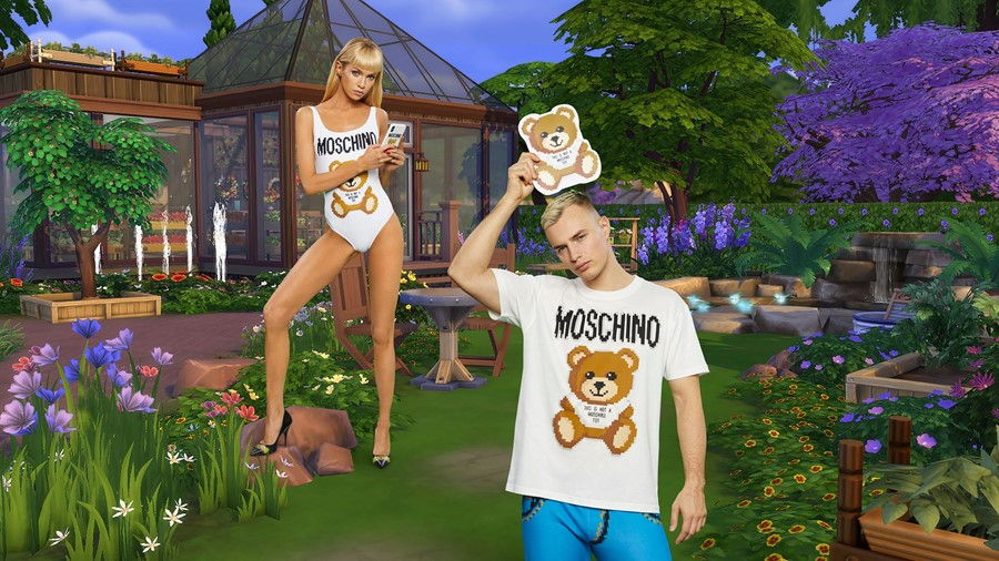 Moschino The Sims collaboration campaign