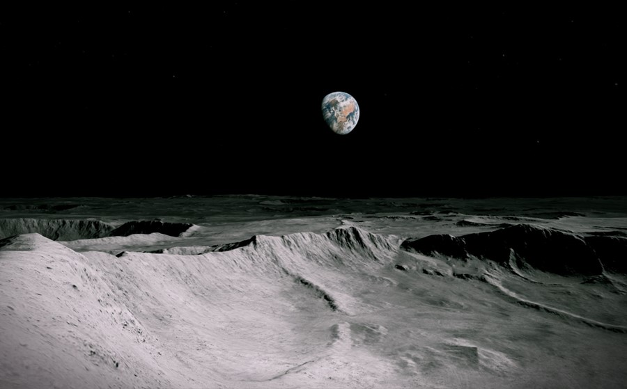 A new virtual reality art project lets people walk on the moon