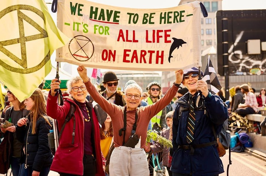 Climate change protesters in London