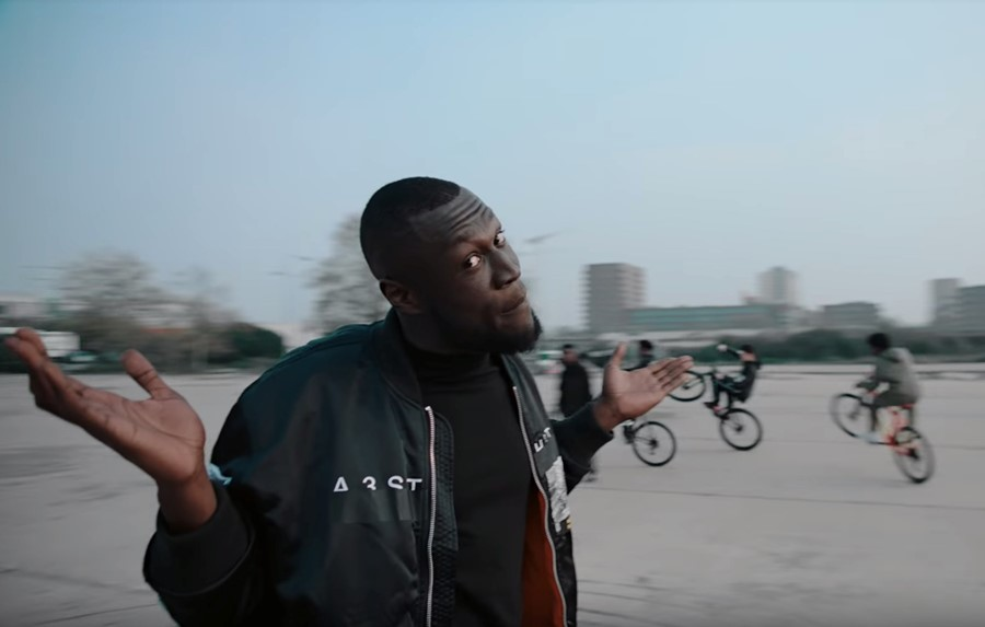 Stormzy in the Vossi Bop video