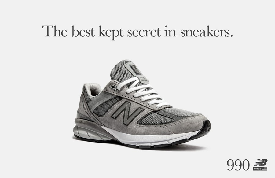 new balance 990 v5 dad shoe campaign