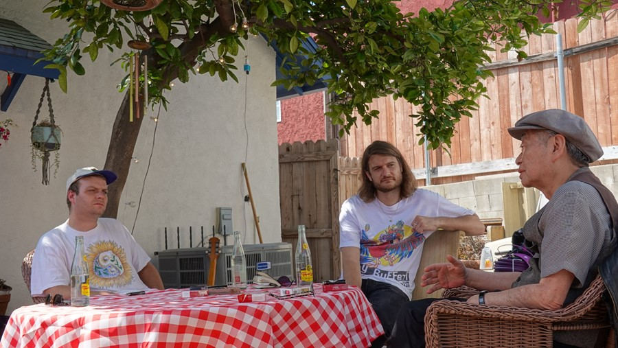 Mac DeMarco meets Haruomi Hosono in his backyard