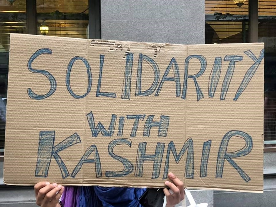 Solidarity with Kashmir protest