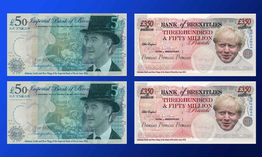 Anti-Brexit parody banknotes are added to the British Museum's collection