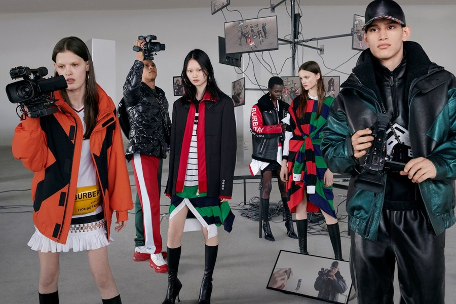 Models turn the camera on each other in Burberry's latest campaign