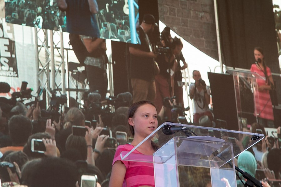 Greta Thunberg speaking in New York