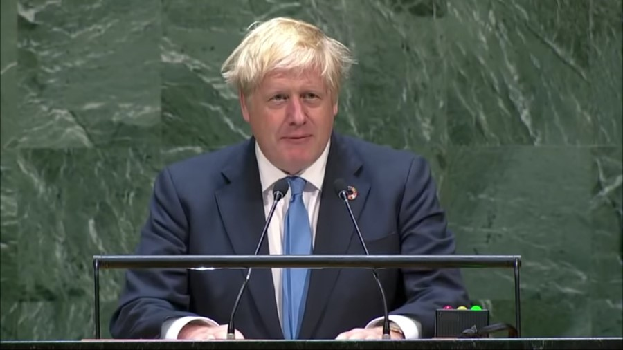 Boris Johnson UN speech