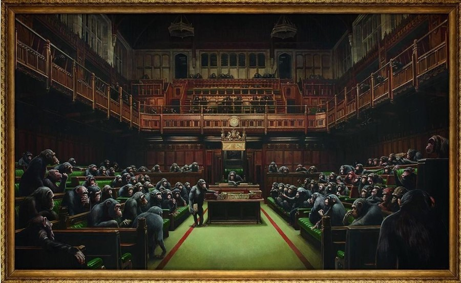 Banksy, Devolved Parliament (2009)