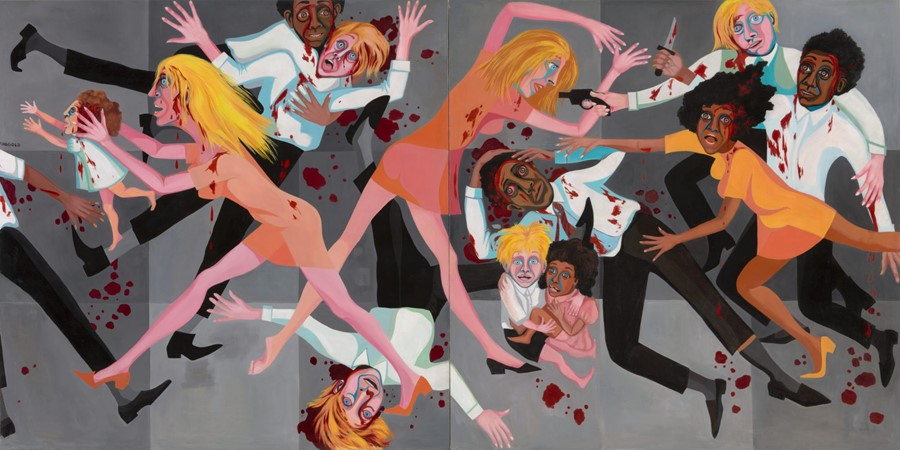 "Faith Ringgold. ""American People Series #20: Die"" (1967)"