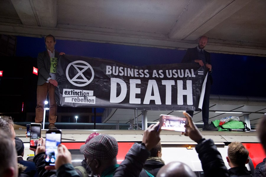 Extinction Rebellion controversial tube action