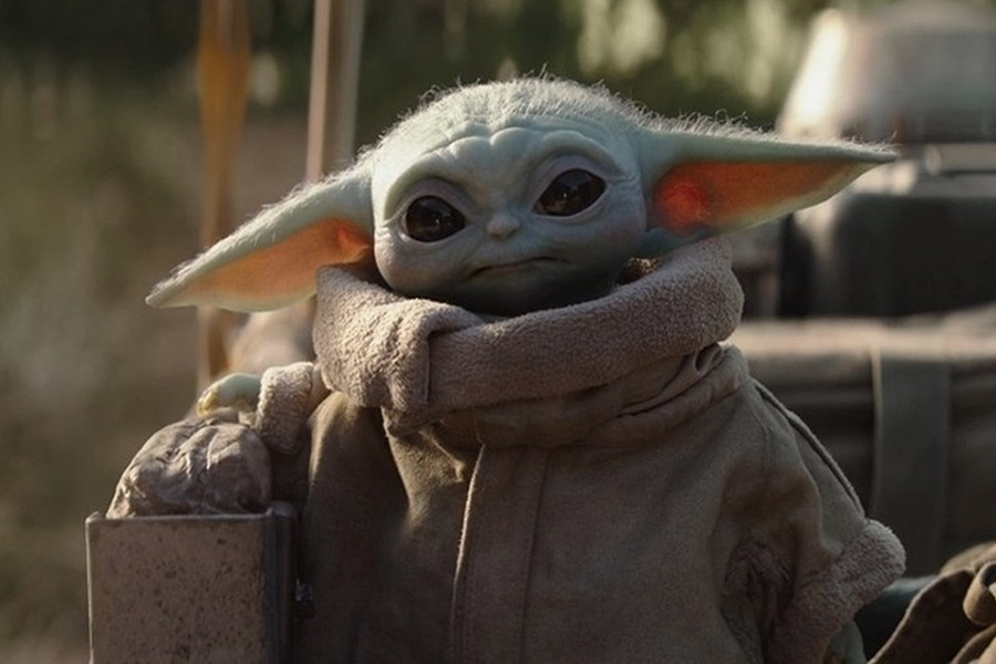 Baby Yoda drinking tea meme The Mandalorian