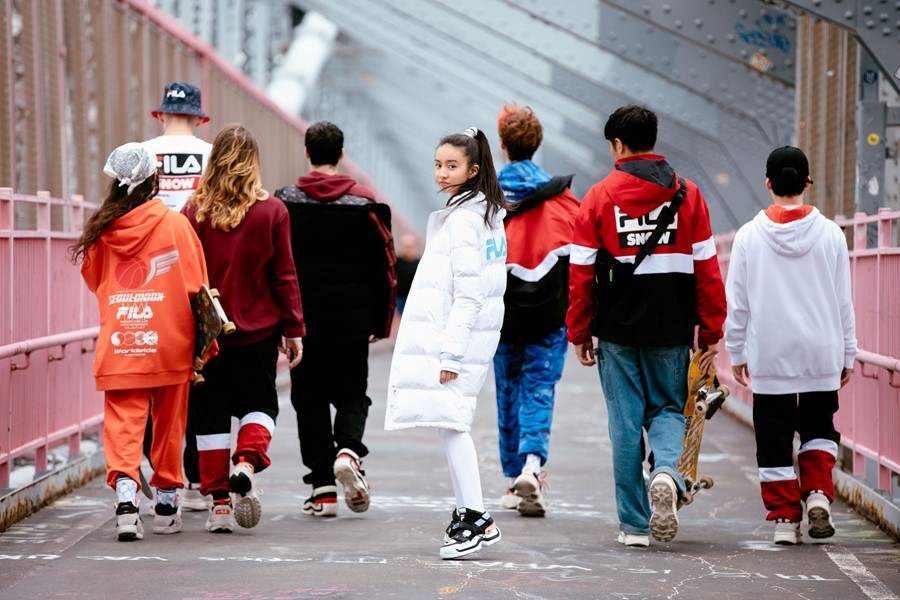 Japanese model Kōki takes to the streets of NYC for Fila