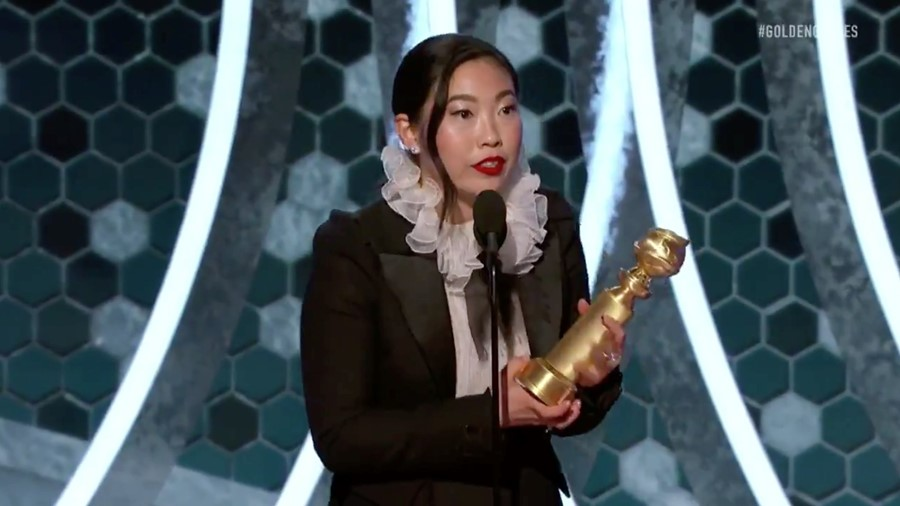 Awkwafina first Asian woman to win Golden Globe for film