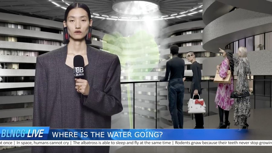 Balenciaga campaign SS20 video news broadcast