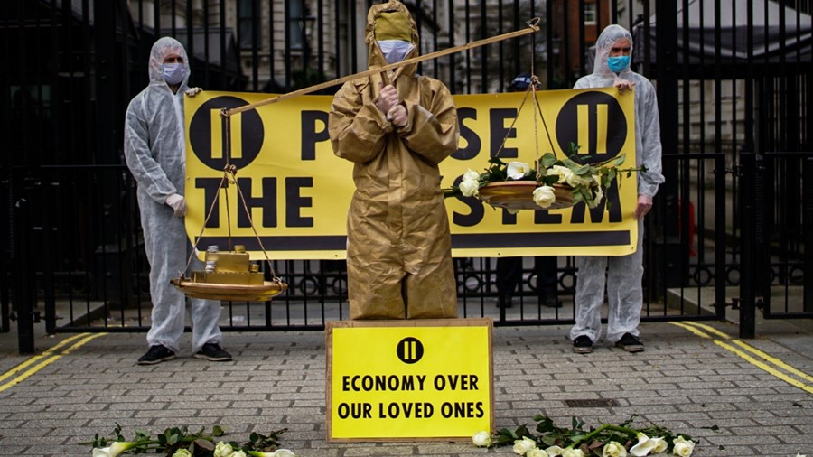 Pause the System coronavirus protest 5