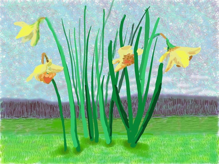 David Hockney, 'Do remember they can't cancel the spring'