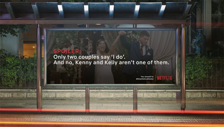 Netflix Spoiler Billboard Miami Ad School Germany