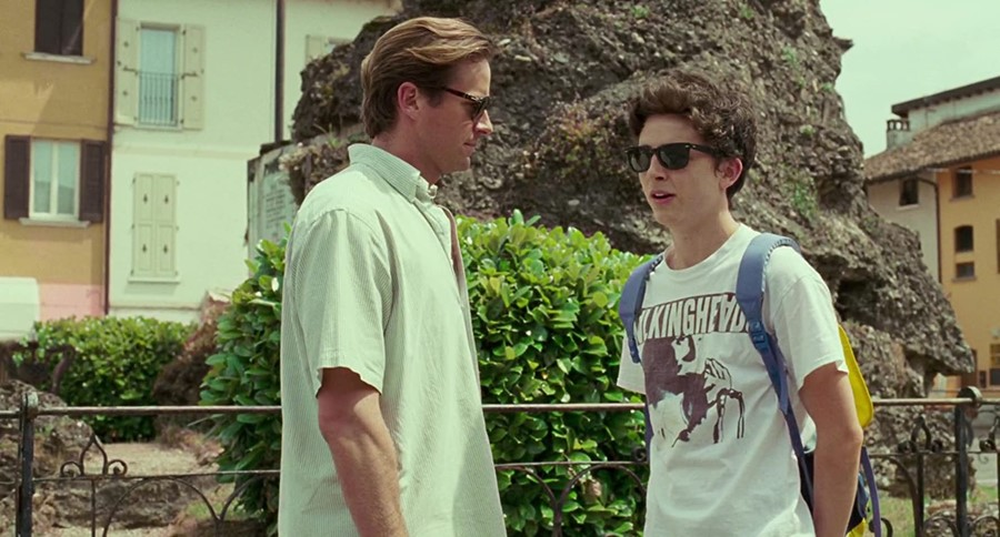 Timothée Chalamet and Armie Hammer in Call Me By Your Name