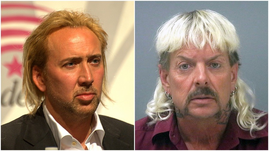 Nicolas Cage and Joe Exotic