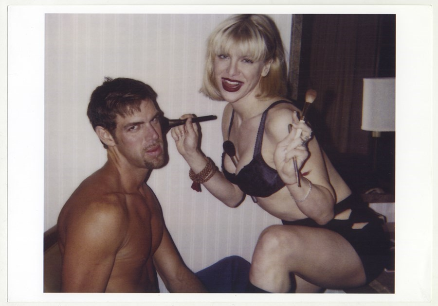 Kevyn Aucoin and Courtney Love