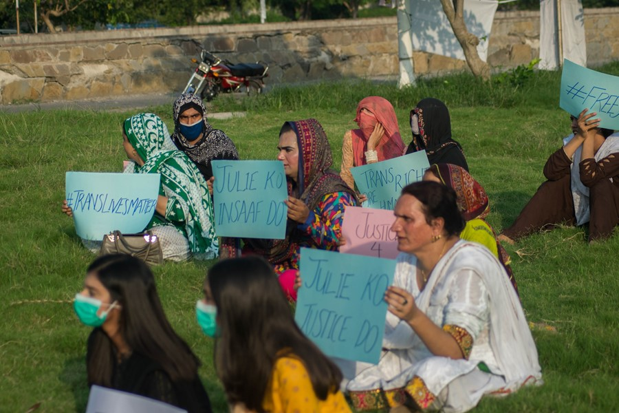 Julie Khan protest