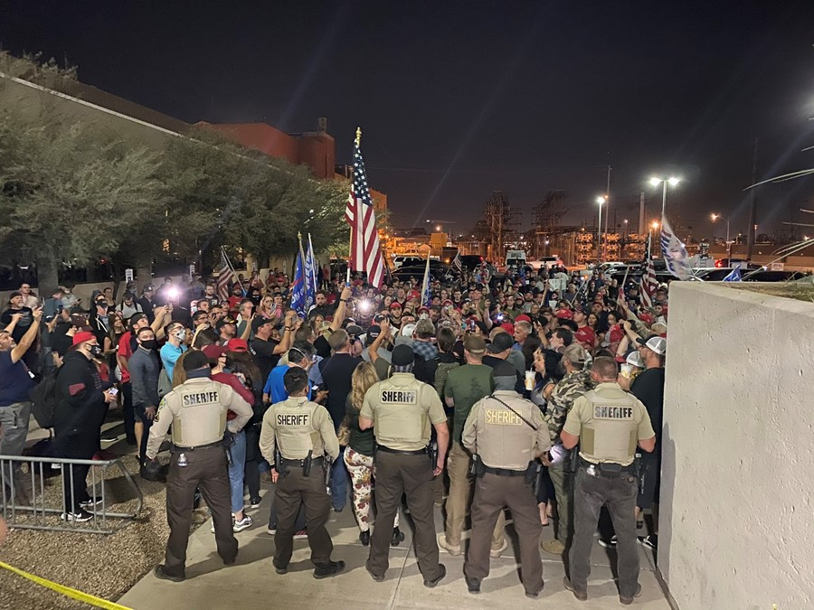 Protests over US election results