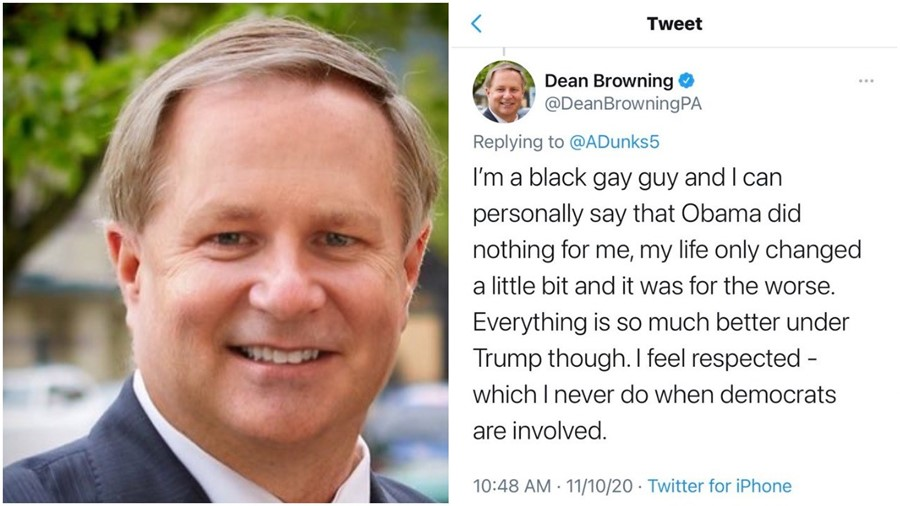Dean Browning's Twitter blunder
