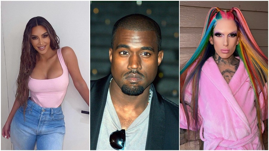 Kim Kardashian, Kanye West, and Jeffree Star