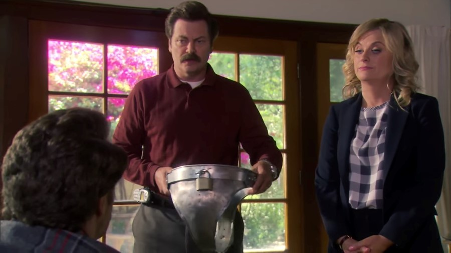 Chastity belt on Parks and Recreation