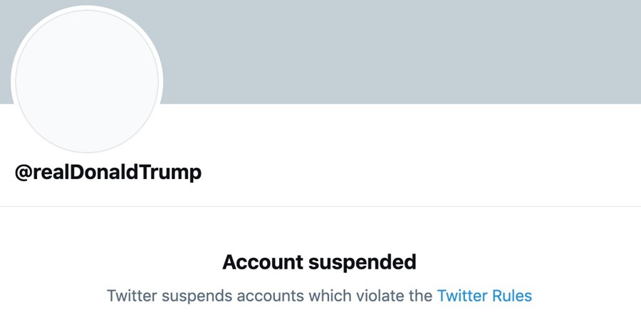Donald Trump's Twitter suspended