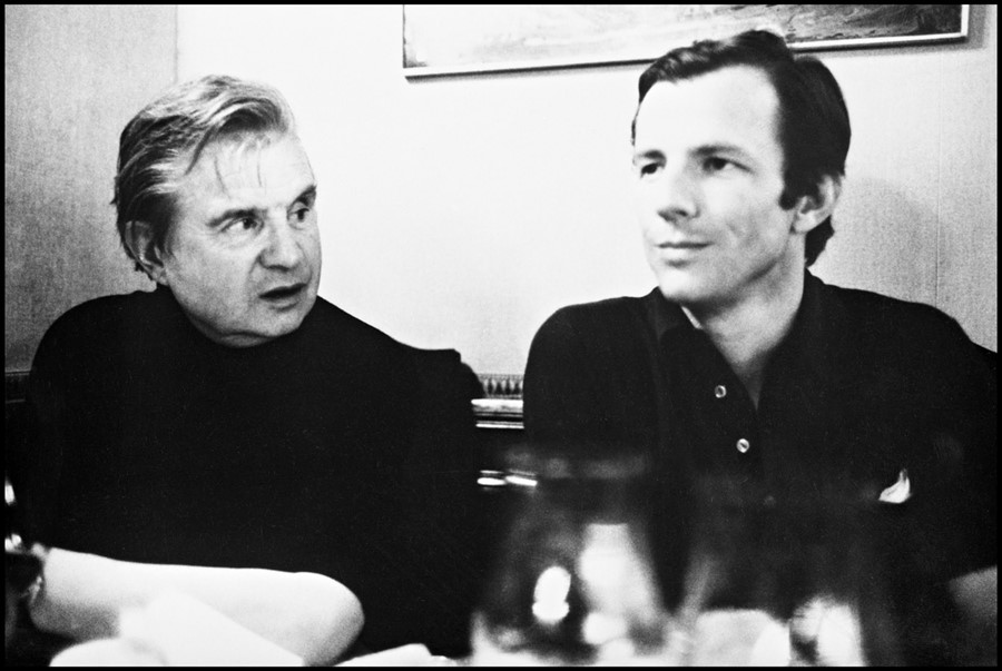 Francis Bacon and Peter Beard photographed in the 1970s