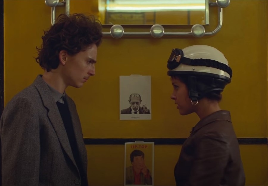 Timothee Chalamet in Wes Anderson's The French Dispatch