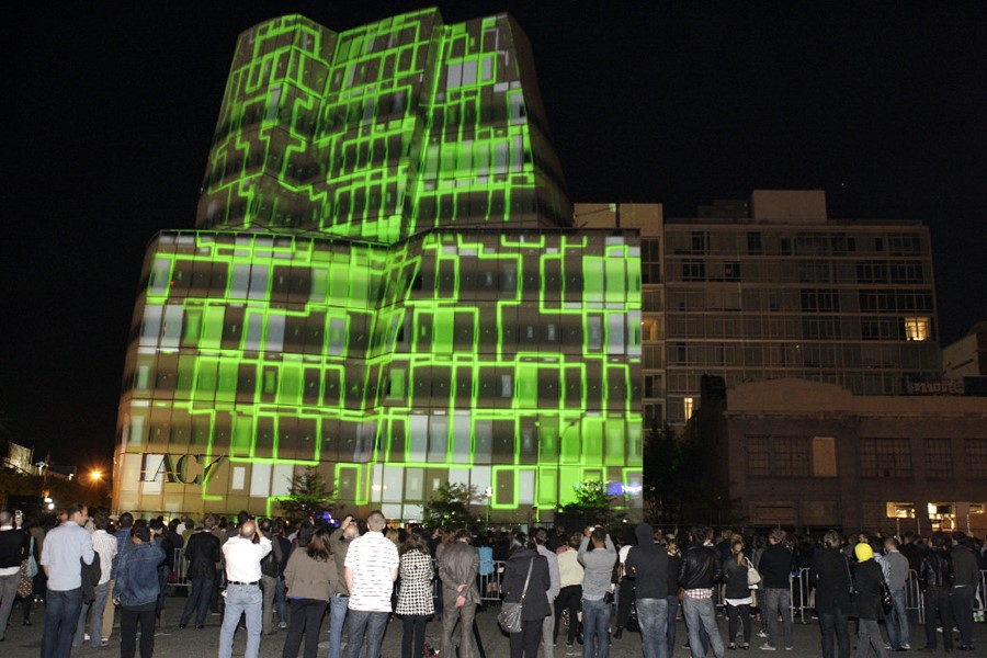 The Projection Mapping on the facade of the famou
