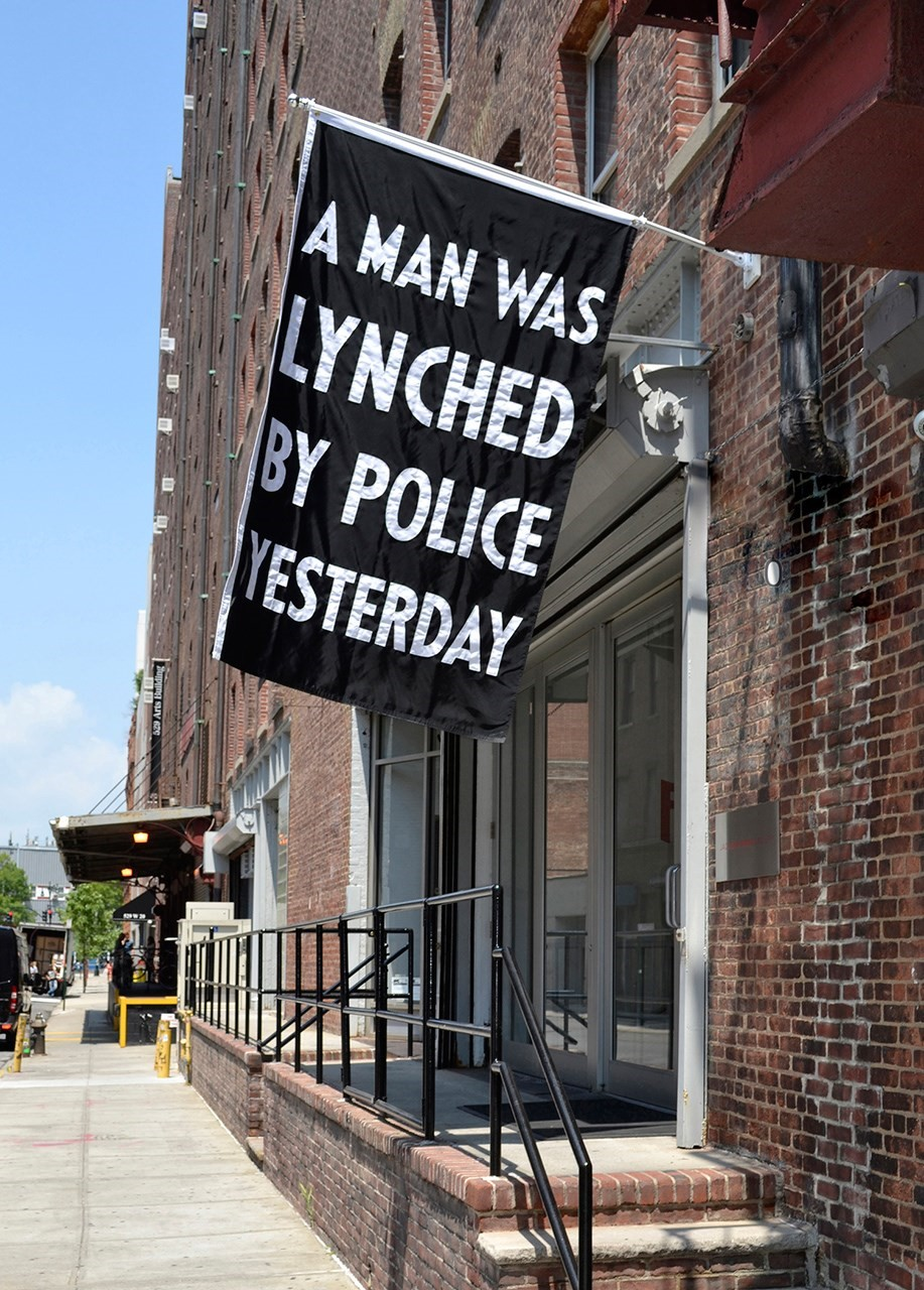 Dread Scott, A Man Was Lynched By Police Yesterday (2015)